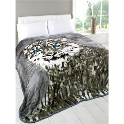 Snow Leopard Mink Throw 150 x 200cm