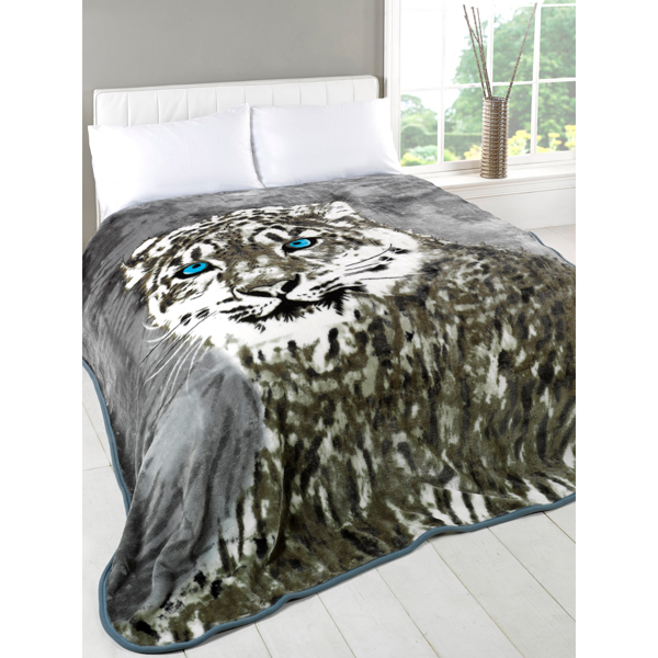 Snow Leopard Mink Throw 150 x 200cm No Colour