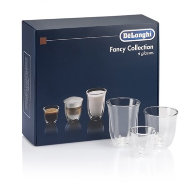 Delonghi DLKC302 Fancy Coffee Glass Collection Set of 6