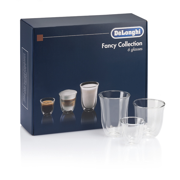 Delonghi DLKC302 Fancy Coffee Glass Collection Set of 6 No Colour