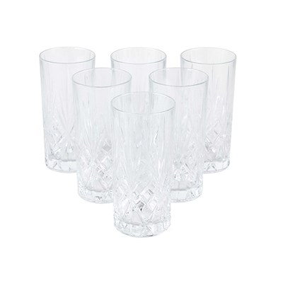 RCR Crystal Melodia High Ball Glasses Set of 6