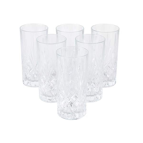 RCR Crystal Melodia High Ball Glasses Set of 6 No Colour