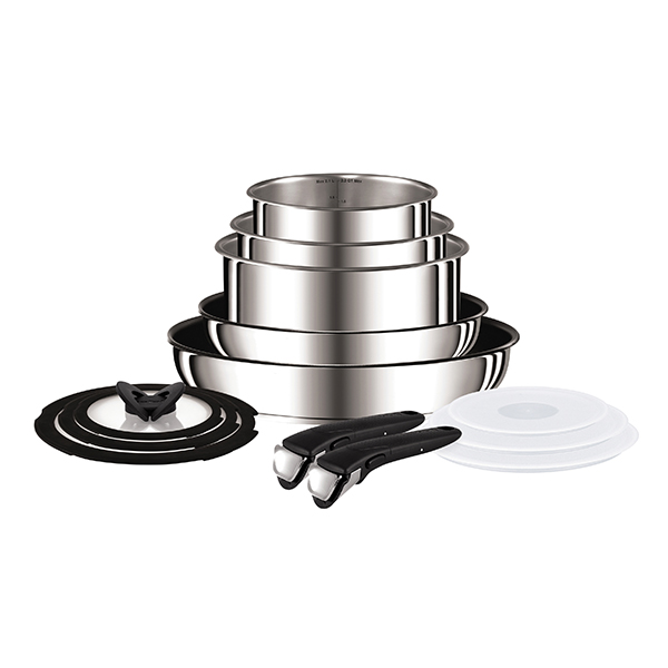 Tefal Ingenio 13pc Stainless Steel Pan Set No Colour
