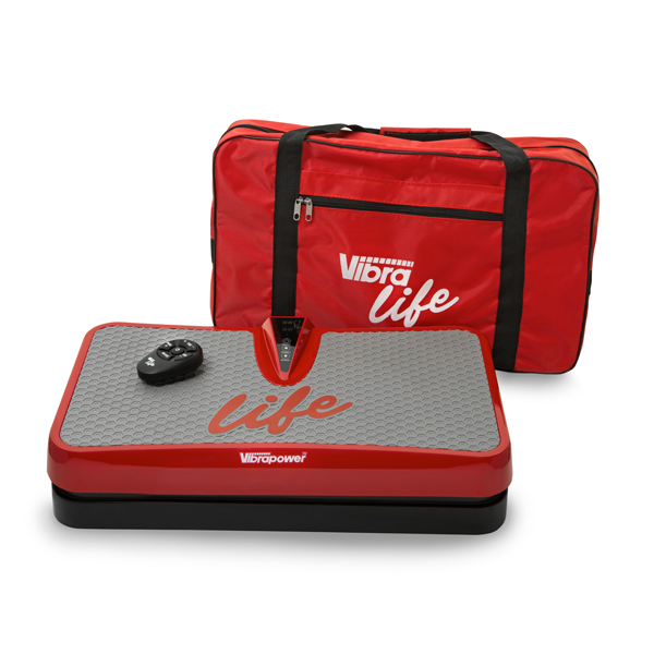 Vibrapower Life with Shoulder Bag and Cordless Remote Control Red