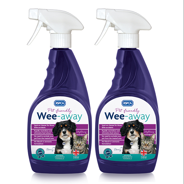 Wee Away Odour Remover 500ml Twin Pack No Colour