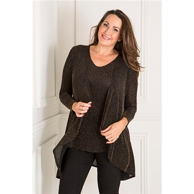 Nicole Glitter Jacket and Two Way Cami