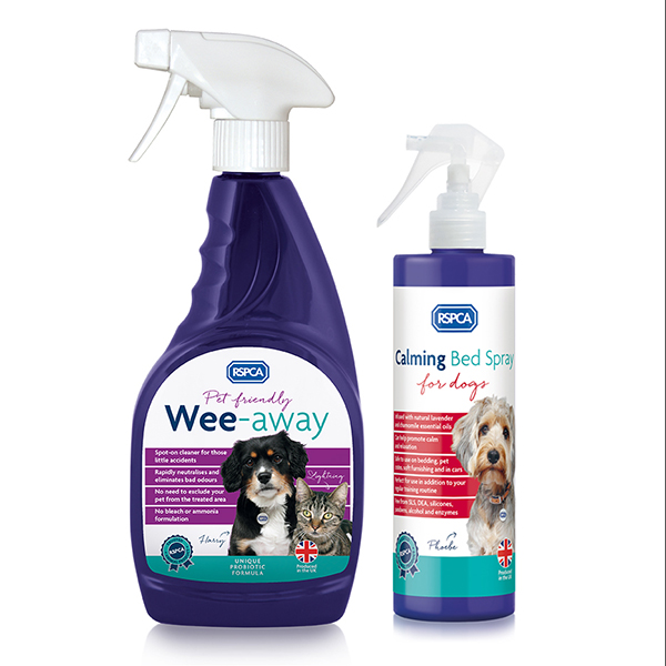 RSPCA Calming Spray plus Wee-Away No Colour