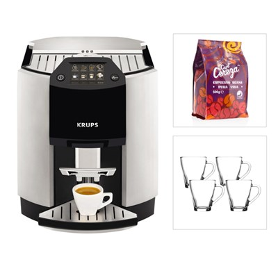 KRUPS Espresseria Bean to Cup Coffee Machine EA9010 with FREE Beans & Glasses