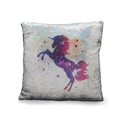 Unicorn Sequin Cushion 40 x 40cm