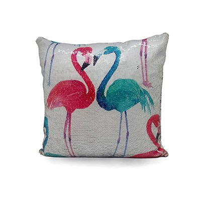 Flamingo Sequin Cushion 60 x 60cm