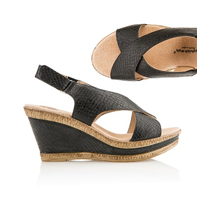 Cushion Walk Comfort Sling Back Wedge Sandal