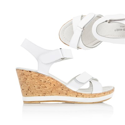 Cushion Walk Comfort Leather Wedge Sandal