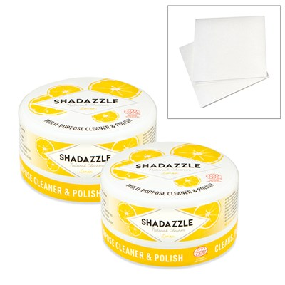 Two Tubs of Shadazzle with FREE Set of 2 No Streak Cloths