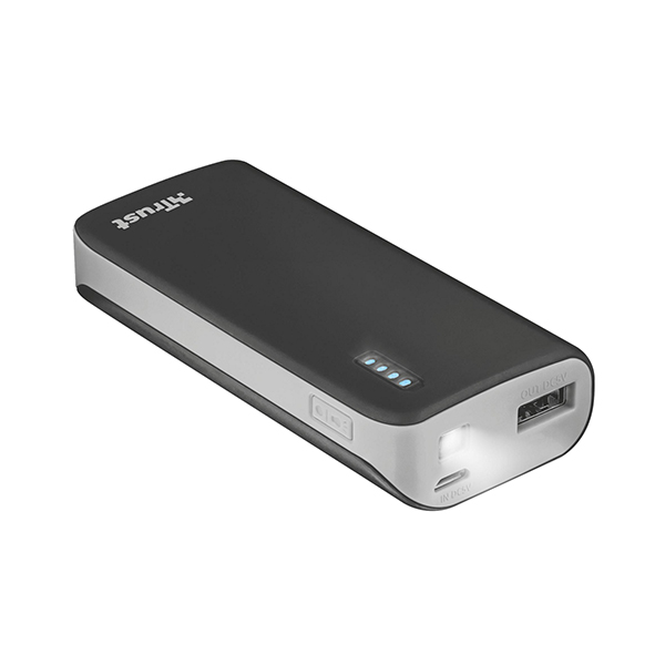 Trust Urban Primo 4400 mAh Powerbank Portable Charger for Smartphone Black