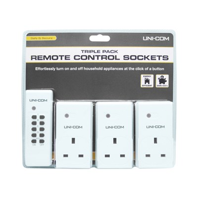 Triple Pack Remote Control Sockets