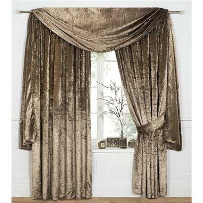 Venezia Velvet (90 Inches x) Lined Ring Top Curtains