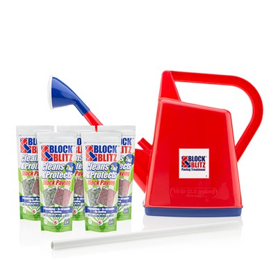 Block Blitz 5 x 380g Sachets with 10L Watering Can and Stirrer