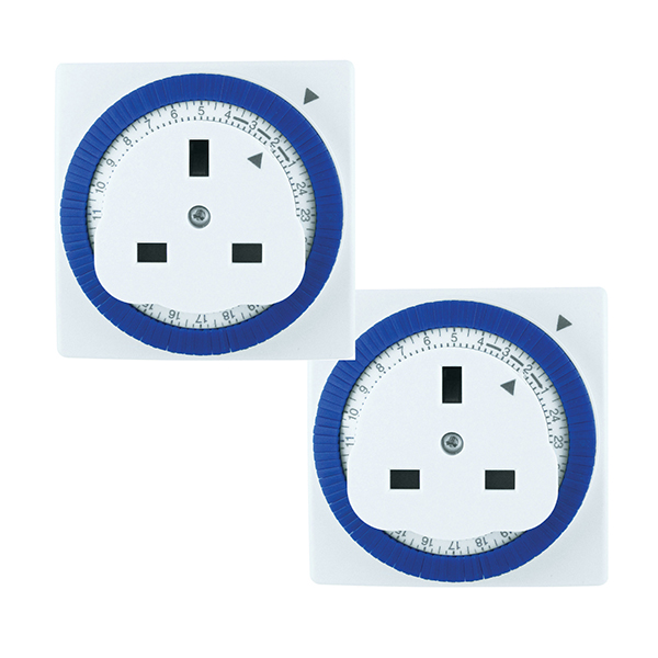 24 Hour Segment Timer (Twin Pack) No Colour