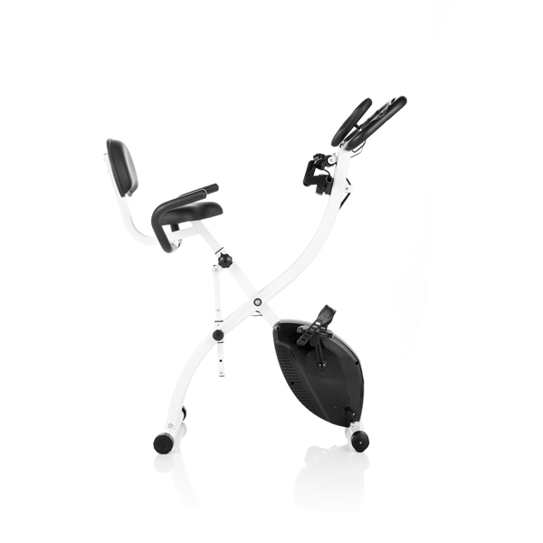Workout Bands Music: Total Tone Folding Exercise Bike With Pulse Sensors And