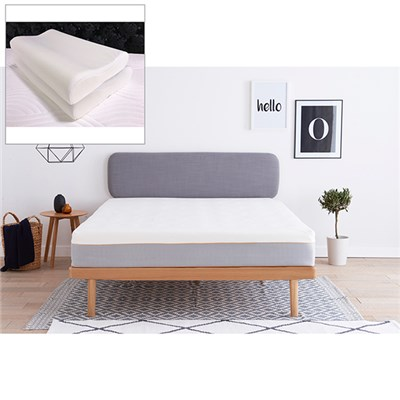 Dormeo Hybrid Latex Super King Mattress with Free Wellsleep Anatomic Pillows