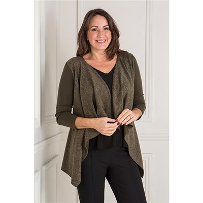 Nicole Brushed Waterfall Cardigan
