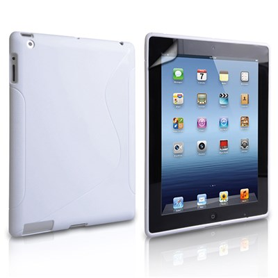 Caseflex iPad 3 S-Line Silicone Case with Screen Protector