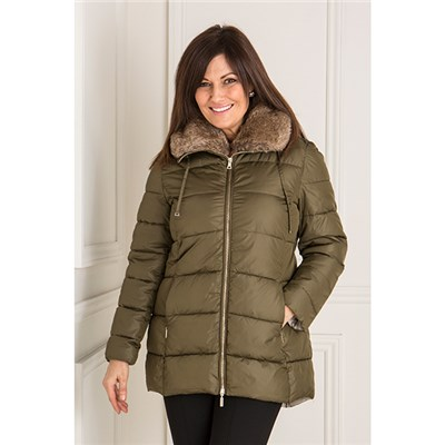 Luxury Faux Fur Collar Padded Jacket