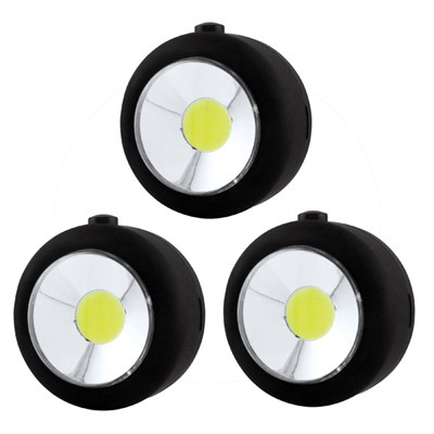 Set of 3 COB LED Utility Light (includes batteries)