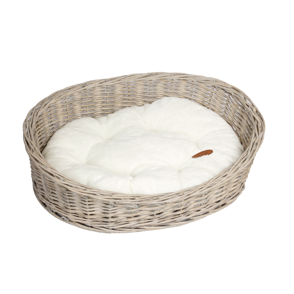 Banbury & Co Oval Willow Pet Basket S/M No Colour