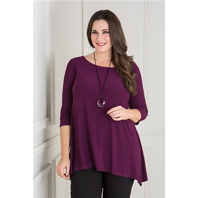 Reflections Tie Back Detail Tunic with Necklace