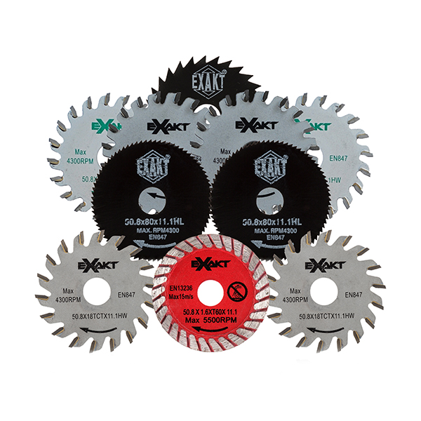 10 Piece Blade Set for Exakt Saw EC320 No Colour