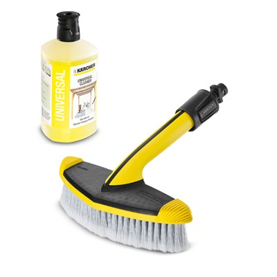 Karcher WB60 Wide Head Soft Wash Brush with 1L Universal Cleaner Detergent