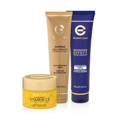 Elizabeth Grant Multi-Masking - Hydra-Moist Vitamin C5 Antioxidant Mask, Wonder Effect Glycolic Mask, Supreme Cell Vitality Rejuvenating Mask
