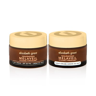 Elizabeth Grant Total Defense Melaveil Duo including Day Cream SPF30 50ml and Night Cream 50ml