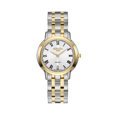 Roamer of Switzerland Ladies' Superslender Watch with IP Plated Two Tone Stainless Steel Bracelet