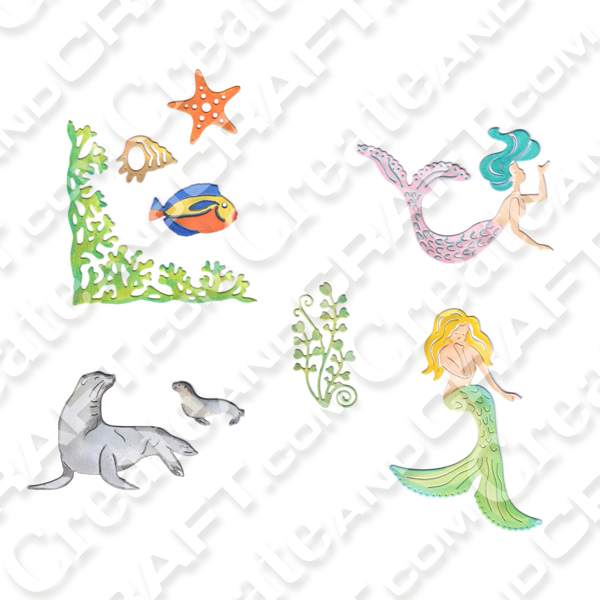 Joanna Sheens Set of 5 dies - Mermaid Fantasy No Colour