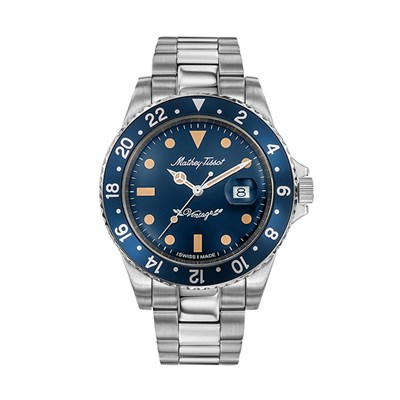 Mathey-Tissot Gent's Rolly Watch with Stainless Steel Bracelet