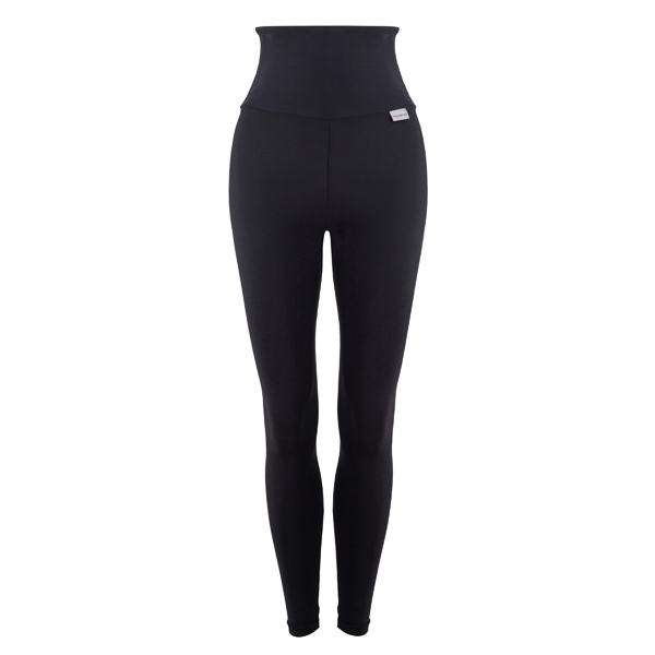 Proskins Intelligent Slim Plus Range High Waisted Full Length Leggings Black