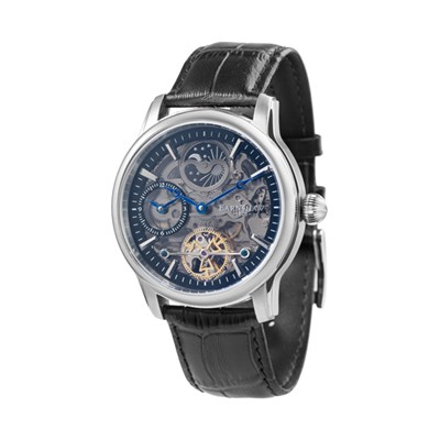 Thomas Earnshaw Gents Longitude Automatic Shadow Skeleton Watch with Genuine Leather Strap