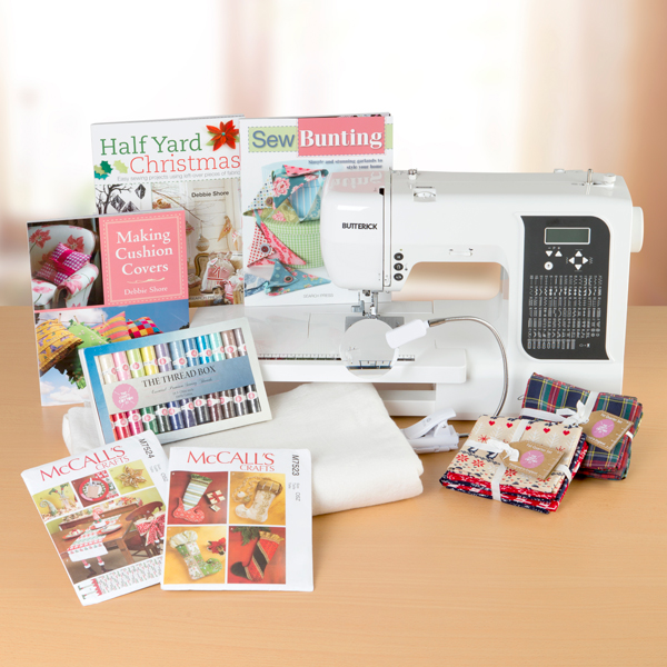 Book Cover Sewing Quarters : Butterick eb computerised sewing machine with free