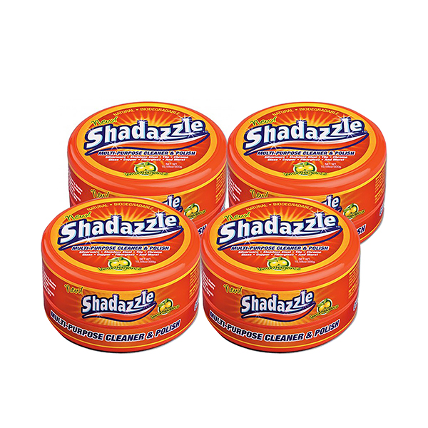 Four Tubs of Shadazzle Natural Cleaner and Polish No Colour