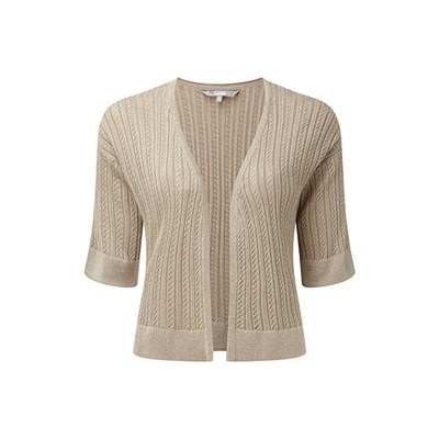 Lavitta Lurex Pointelle Shrug 26in