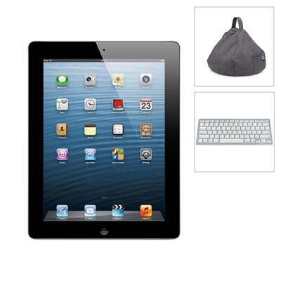 Apple iPad 3 64GB WiFi, 3G (Certified Refurbished) with Bluetooth Keyboard & iBeani Tablet Stand
