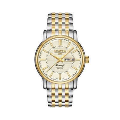 Roamer of Switzerland Gents Mercury II Automatic Watch with Two Tone Stainless Steel Bracelet