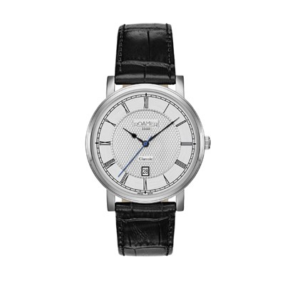 Roamer of Switzerland Gents Classic Watch with Genuine Leather Strap