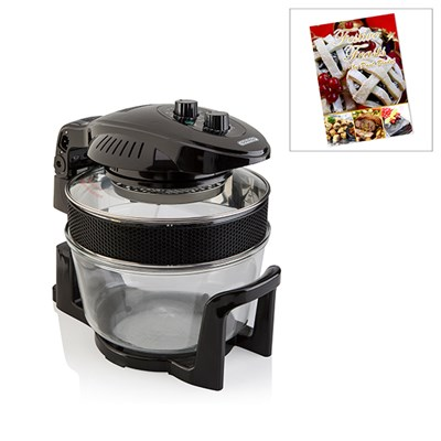 Cookshop 17L Halogen Oven with Hinged Lid and Festive Feasts Recipe Book