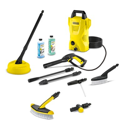 Karcher K2 Compact Home and Car with Angled Adaptor and Wide Headed Brush