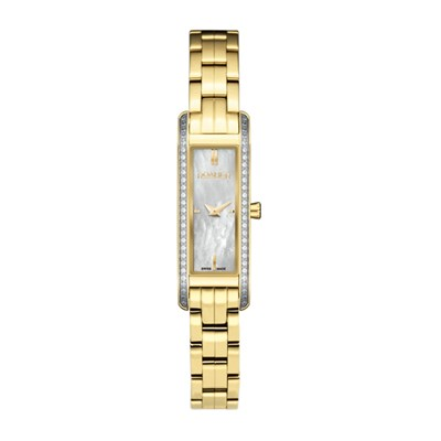 Roamer of Switzerland Ladies' Vintage Line Watch with Mother of Pearl Dial, Swarovski Crystals and Two Tone IP Plated Stainless Steel Bracelet
