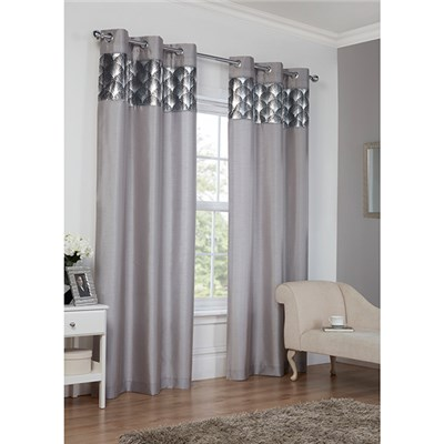 Astoria (90 inches x) Lined Ring Top Curtains
