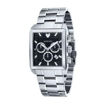 Swiss Eagle Gent's Arnkell Chronograph Watch with Stainless Steel Bracelet